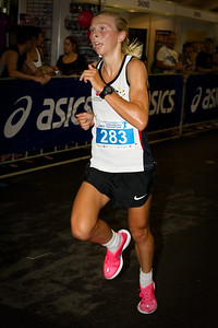 Women's Race Winner (& Top Australian ITU Triathlete & Olympic hopeful Emma Jackson) - 2012 ASICS Twilight 5km Run; Mooloolaba, Sunshine Coast, Queensland, Australia; 23 March 2012. Photos by Des Thureson - disci.smugmug.com.