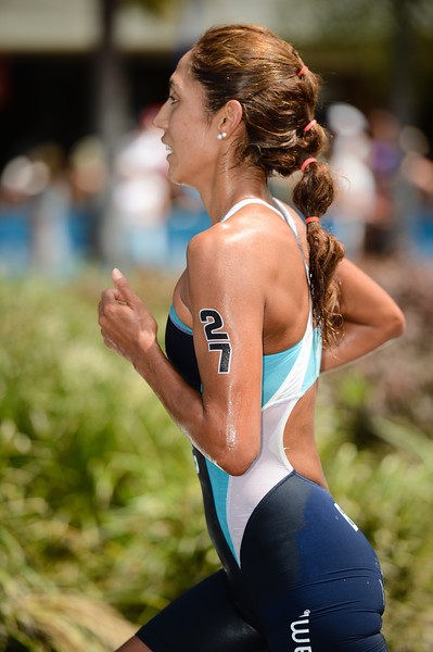 """Romina Biagioli - 2015 Mooloolaba ITU Triathlon World Cup Women - 2015 Mooloolaba Triathlon Multi Sport Festival, Sunshine Coast, Qld, AUS; Saturday 14 March 2015. Photos by Des Thureson - <a href=""""http://disci.smugmug.com"""">http://disci.smugmug.com</a>. Camera 1."""
