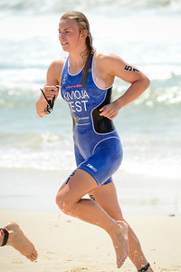 Kaidi Kivioja - 2015 Mooloolaba ITU Triathlon World Cup Women - 2015 Mooloolaba Triathlon Multi Sport Festival, Sunshine Coast, Qld, AUS; Saturday 14 March 2015. Photos by Des Thureson - http://disci.smugmug.com. Camera 1.