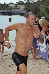 "Ironman ""Mr Mercer""! - Legends Team Triathlon, Noosa Multi Sport Festival, Noosa Heads, Sunshine Coast, Queensland, Australia; 30 October 2010."
