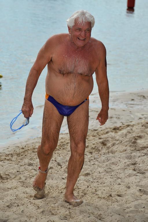 Former holder of all men's freestyle world records from 200m to 1500m, John Konrads - Legends Team Triathlon, Noosa Multi Sport Festival, Noosa Heads, Sunshine Coast, Queensland, Australia; 30 October 2010.