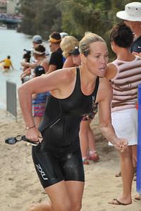 2004 Athens Olympic Triathlon Silver Medallist Loretta Harrop - Legends Team Triathlon, Noosa Multi Sport Festival, Noosa Heads, Sunshine Coast, Queensland, Australia; 30 October 2010.