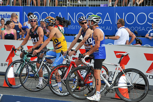 Steve Moneghetti the cyclist! - Legends Team Triathlon, Noosa Multi Sport Festival, Noosa Heads, Sunshine Coast, Queensland, Australia; 30 October 2010.