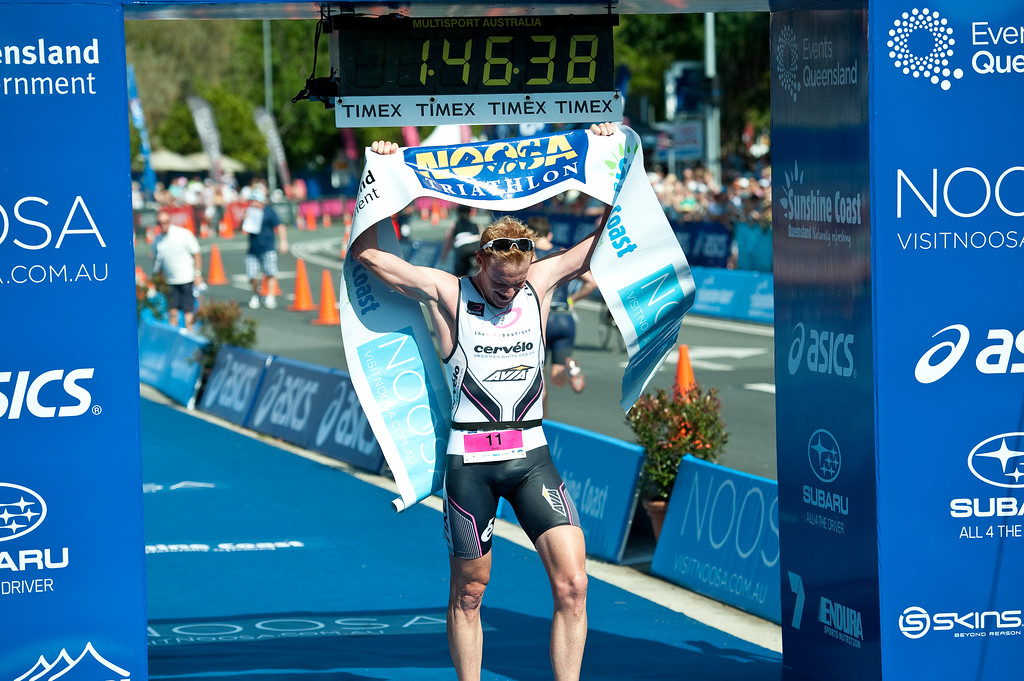 David Dellow - 2011 Noosa Triathlon, Noosa Heads, Sunshine Coast, Queensland, Australia; 30 October 2011.