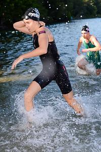 2012 Women's Elite Winner Ashley Gentle - Swim Leg - 2013 Noosa Triathlon, Noosa Heads, Sunshine Coast, Queensland, Australia; 3 November. Camera 1. Photos by Des Thureson - disci.smugmug.com