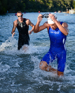 Courtney Atkinson - Swim Leg - 2013 Noosa Triathlon, Noosa Heads, Sunshine Coast, Queensland, Australia; 3 November. Camera 1. Photos by Des Thureson - disci.smugmug.com