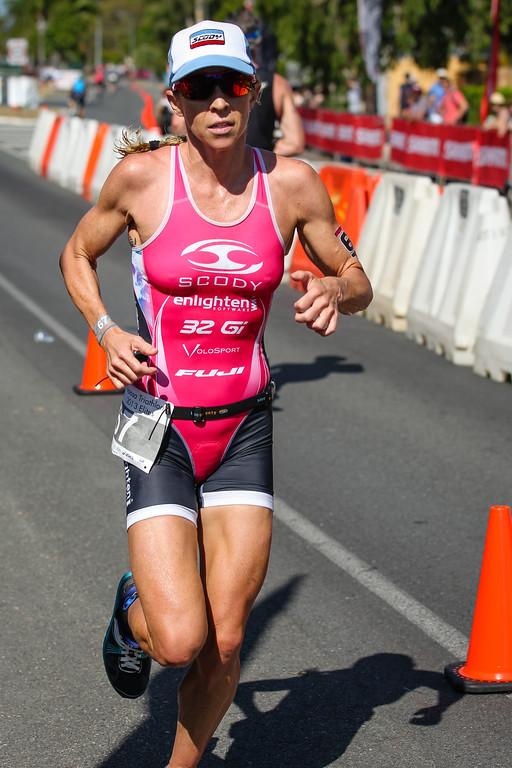 Liz Blatchford, who took third place in the Hawaii Ironman World Championship only 2 weeks earlier - Run Leg - 2013 Noosa Triathlon, Noosa Heads, Sunshine Coast, Queensland, Australia; 3 November. Camera 2. Photos by Des Thureson - disci.smugmug.com