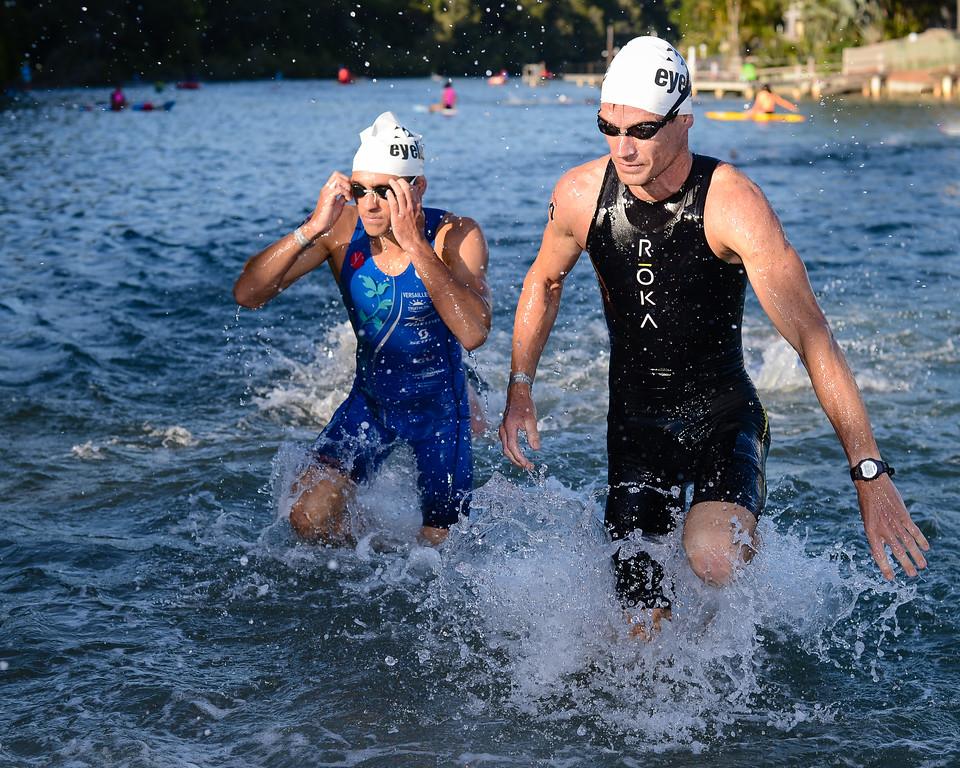 Brad Kahlefeldt - Swim Leg - 2013 Noosa Triathlon, Noosa Heads, Sunshine Coast, Queensland, Australia; 3 November. Camera 1. Photos by Des Thureson - disci.smugmug.com