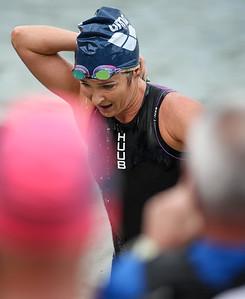 Felicity Sheedy Ryan - Swim Leg - 2014 Noosa Triathlon, Noosa Heads, Sunshine Coast, Queensland, Australia; 2 November. Camera 2. Photos by Des Thureson - disci.smugmug.com