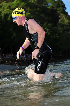 Swim Leg, T1 & Preparations - Noosa Triathlon, Noosa Heads, Sunshine Coast, Queensland, Australia; 31 October 2010.