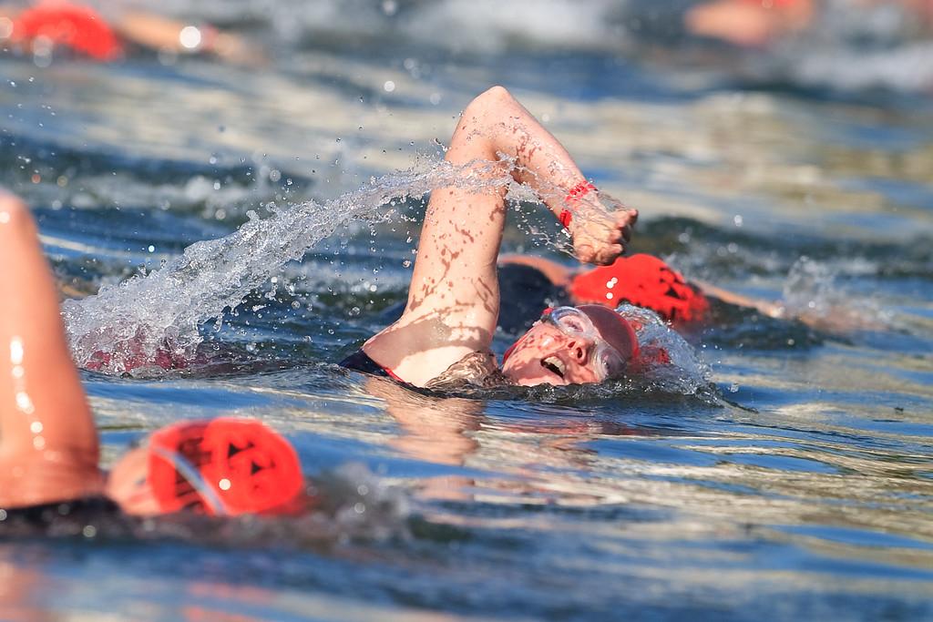 """The value of oxygen"" - Pre-start, Swim Leg & 1st Transition - Noosa Triathlon, Sunshine Coast, Queensland, Australia; 31 October 2010"