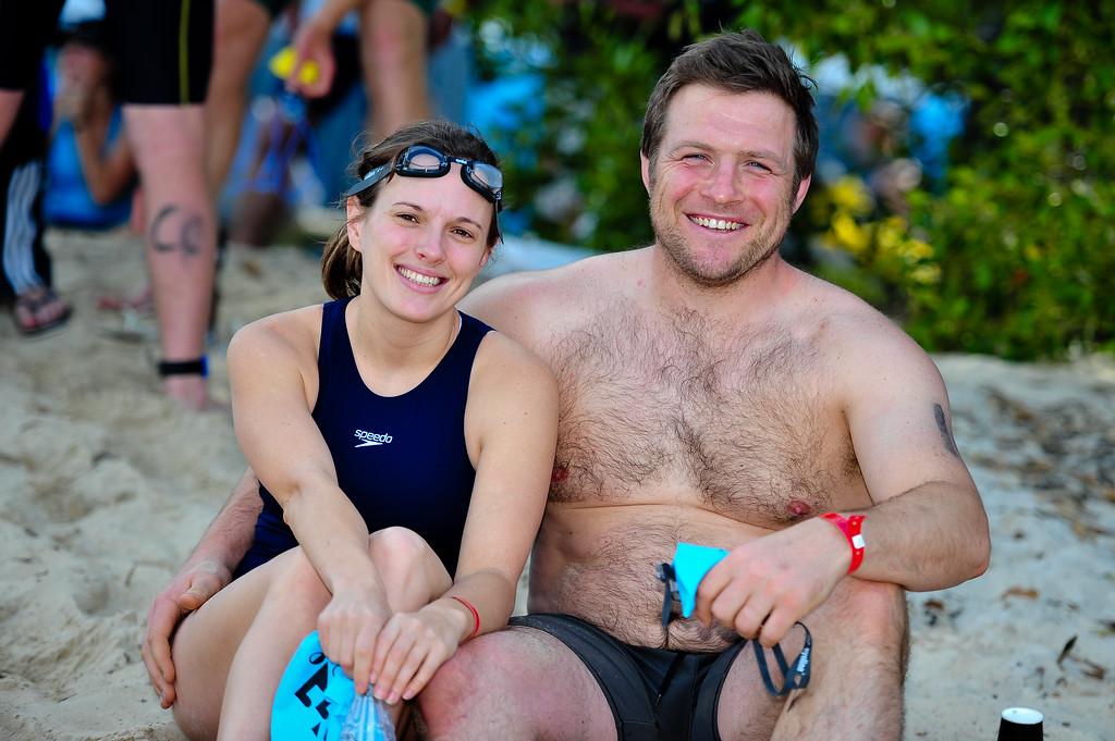 Rugby Legend Ben Darwin - Pre-start, Swim Leg & 1st Transition - Noosa Triathlon, Sunshine Coast, Queensland, Australia; 31 October 2010