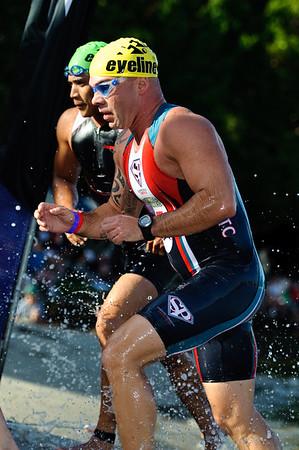Pre-start, Swim Leg & 1st Transition - Noosa Triathlon, Sunshine Coast, Queensland, Australia; 31 October 2010