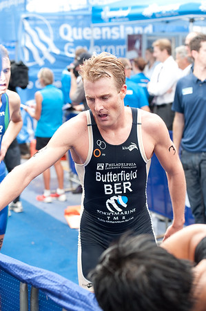 Tyler Butterfield - 2012 Subaru Mooloolaba Men's ITU Triathlon World Cup; Mooloolaba, Sunshine Coast, Queensland, Australia; 24 March 2012. Photos by Des Thureson - disci.smugmug.com.  Post Race.  The images in this gallery have not been edited / cropped. If you order a print, these images will be edited / corrected / cropped before being printed. Des.