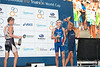Champagne Time - 2012 Subaru Mooloolaba Men's ITU Triathlon World Cup; Mooloolaba, Sunshine Coast, Queensland, Australia; 24 March 2012. Photos by Des Thureson - disci.smugmug.com. Top Three; Podium; Presentations; Medal Ceremony.  Laurent Vidal, Brad Kahlefeldt, David Hauss. Post Race.  The images in this gallery have not been edited / cropped. If you order a print, these images will be edited / corrected / cropped before being printed. Des.