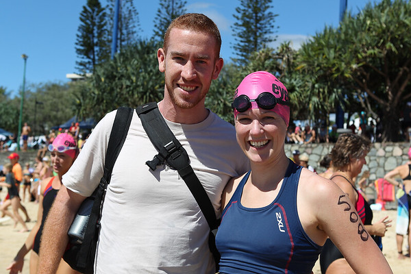 """Group Portraits before the start.- 2012 Mooloolaba Ocean Swim; Mooloolaba, Sunshine Coast, Queensland, Australia; 24 March 2012. Photos by Des Thureson - <a href=""""http://disci.smugmug.com"""">http://disci.smugmug.com</a>.  Unedited, uncropped images - If you order a print, these images will be edited / corrected / cropped before being printed. Des."""