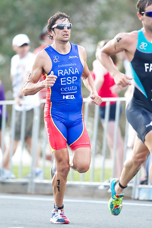 Ivan Rana - 2012 Subaru Mooloolaba Men's ITU Triathlon World Cup; Mooloolaba, Sunshine Coast, Queensland, Australia; 24 March 2012. Photos by Des Thureson - disci.smugmug.com.  Unedited, uncropped images - If you order a print, these images will be edited / corrected / cropped before being printed. Des.