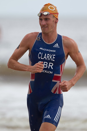 Will Clarke - 2012 Subaru Mooloolaba Men's ITU Triathlon World Cup; Mooloolaba, Sunshine Coast, Queensland, Australia; 24 March 2012. Photos by Des Thureson - disci.smugmug.com.  Unedited, uncropped images - If you order a print, these images will be edited / corrected / cropped before being printed. Des.