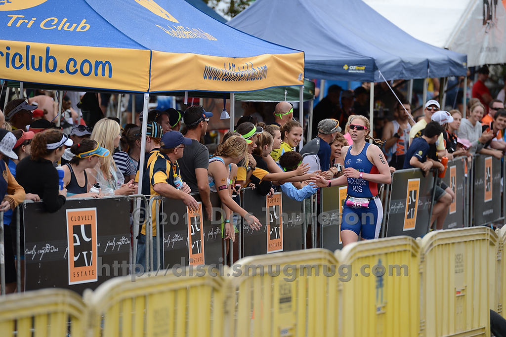 "Gillian Backhouse - Run Leg - 2012 Noosa Triathlon, Noosa Heads, Sunshine Coast, Queensland, Australia; 4 November 2012. Photos by Des Thureson. Camera 1. - The images in this gallery have not been edited / cropped. If you purchase* a print or download, these images will be edited / corrected / cropped before being sent out. *Ordering will be via <a href=""http://disci.photoshelter.com"">http://disci.photoshelter.com</a> or via email. Thanks, Des."