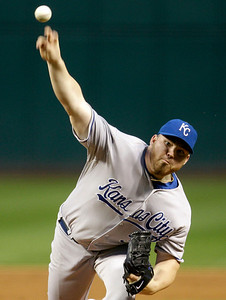 Kansas City Royals starting pitcher Sean O'Sullivan delivers in the first inning in a baseball game against the Cleveland Indians, Thursday, Sept. 23, 2010, in Cleveland. (AP Photo/Tony Dejak)