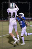 Trinity Valley High School  DB #22 Sacha Chindiwo disrupts the catch attempt by #88 Woodlands Christian WR Jack Cole.