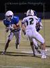 Trinity Valley High School WR #2 Carter Lea moves past #12 Woodlands Christian DB Xavier Richmond.