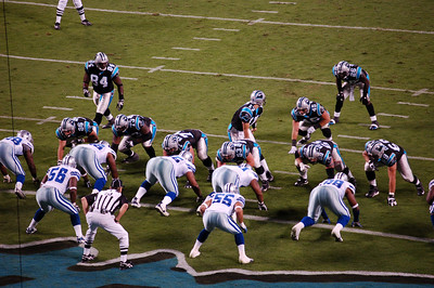 Jake Delhomme leads the Pathers offense.  http://www.nfl.com/players/playerpage/1626