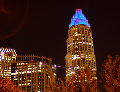 The Bank of America Building in Downtown Charlotte