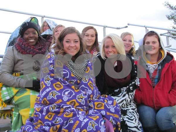 A group of Iowa Central students were ready to cheer on the Iowa Central rodeo riders at the Triton Stampede.