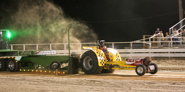 Greg Lussetto in the tractor turbulance.