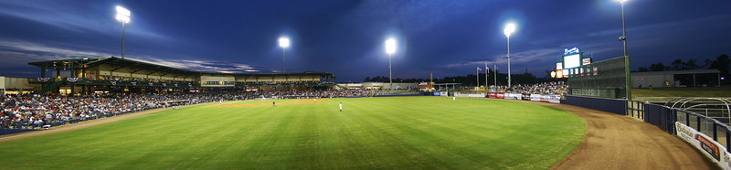 Trustmark Park in 2005 on opening night