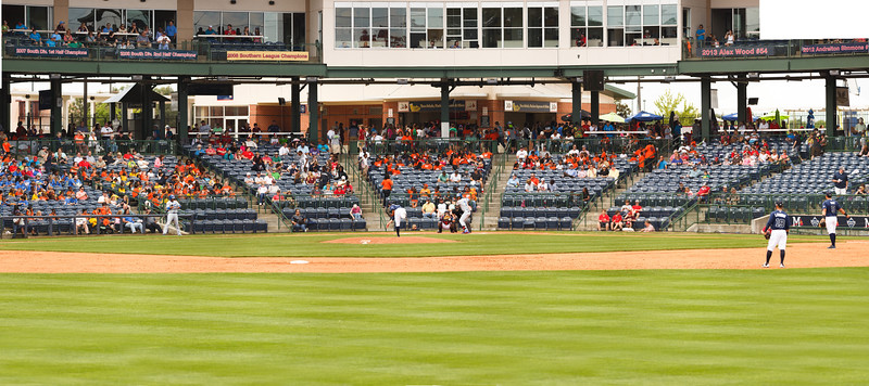 Trustmark Park panoramic gigapixel kids day game