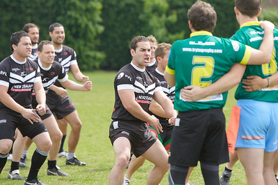 17 May - Try Tag Rugby London Australia v London New Zealand during the 2011 Anzac Challenge at Twyford Avenue Sports Ground, Acton.