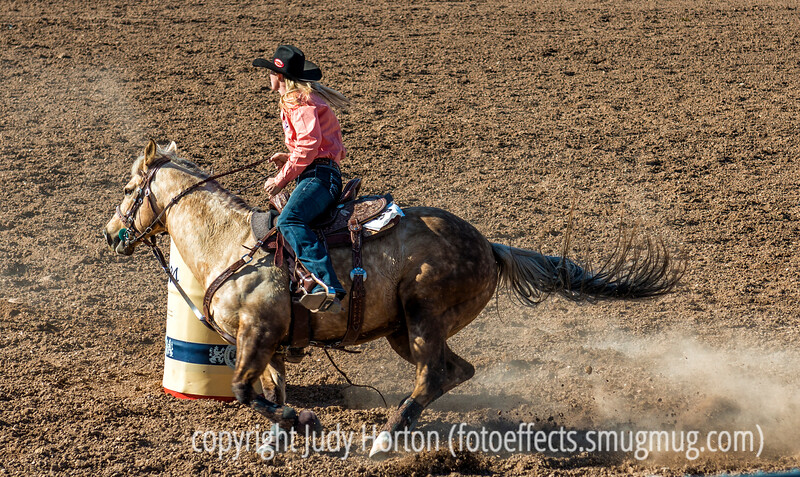 Tucson Rodeo, 2014...barrel rider