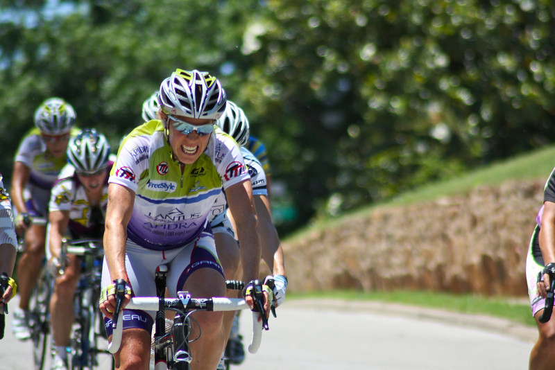 "A member of Team Type 1 races during the Woman's Pro I/II race at the 2009 Tulsa Tough cycling competition. <a href=""http://blog.rjbphoto.com/2009/06/tulsa-tough.html"">http://blog.rjbphoto.com/2009/06/tulsa-tough.html</a>"