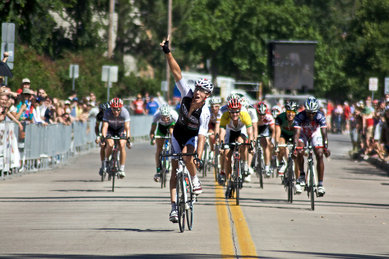 "Daniel Ramsey of Team Successful Living crosses the finish line during the Men's Pro I race at the 2009 Tulsa Tough Competition. More details about the race can be found at <a href=""http://blog.rjbphoto.com/2009/06/tulsa-tough.html"">http://blog.rjbphoto.com/2009/06/tulsa-tough.html</a>"