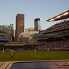 Target Field with Minneapolis Skyline.