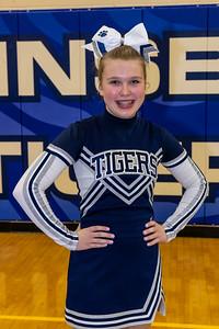 Twinsburg Middle School Basketball Cheerleaders 2020-2021