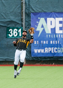 Tyler Junior College's Tye Eli (29) catches a ball in the outfield during game action against Mountain View Wednesday, Feb. 11, 2020, at Christus Trinity Mother Frances Mike Carter Field in Tyler. (Cara Campbell/Tyler Morning Telegraph)