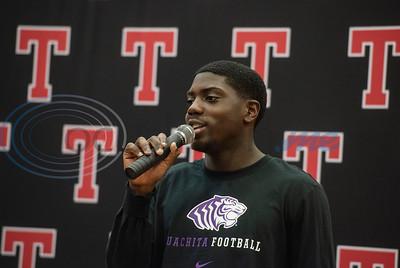 Tyler Lee High School athlete Jeremiah Turner will play football for Ouachita Baptist University.  (Sarah A. Miller/Tyler Morning Telegraph)
