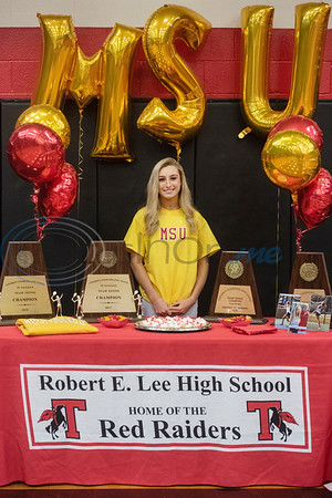 Tyler Lee High School tennis player will attend Midwestern State University.  (Sarah A. Miller/Tyler Morning Telegraph)
