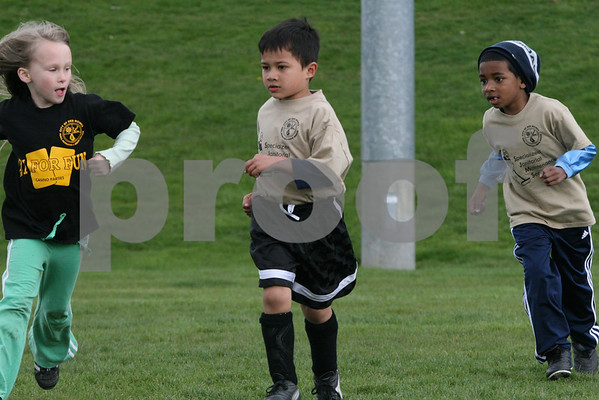 U7 Great Whites Spring Soccer, April 11, 2009