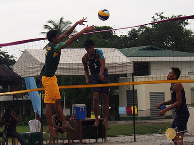 FEU vs NU on the Men's Division of the UAAP S75 Beach Volleyball Finals
