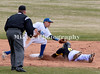 5 steals second base as he gets under tag