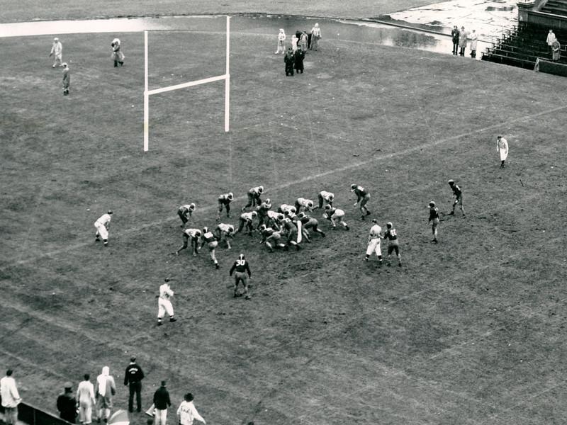 On September 27, 1958, University at Buffalo (UB) beats Harvard 6-3 in Cambridge, MA.