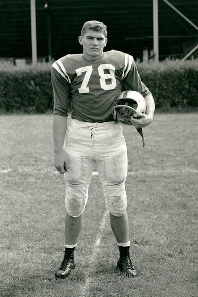 Sam Sanders, University at Buffalo football, 1958.