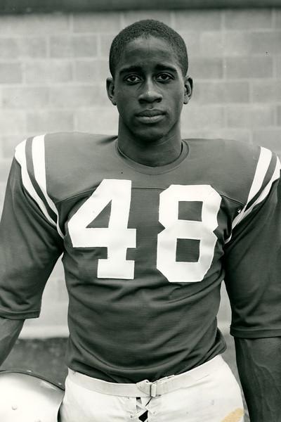 Willie Evans, halfback, 1958 University at Buffalo football.