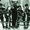 Bill Defoe, John Watson, Coach Coley, Fred Borgemeister, Bill Newman, University at Buffalo hockey, 1967-68.