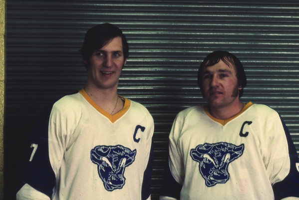 Bill Newman, Bob Goody, University at Buffalo hockey, 1971-72.