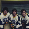 Mike Klym, Dale Dolmage, Ron Maracle, University at Buffalo hockey, 1971-72.